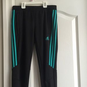 Women's Adidas Athletic Pants with Zippers